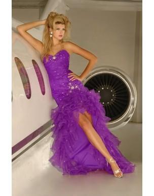 Fialové maturitní šaty Chloe 31