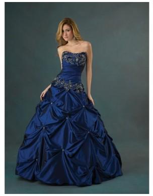 Modré maturitní šaty na míru - Quinceanera