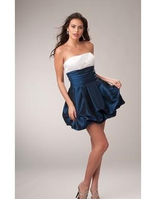 modro-bílé společenské šaty