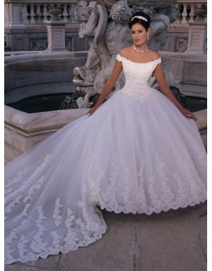 svatební šaty s vlečkou Marianna