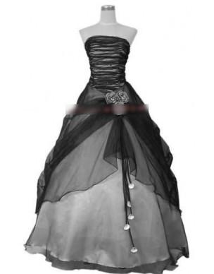 Černo-bílé společenské šaty