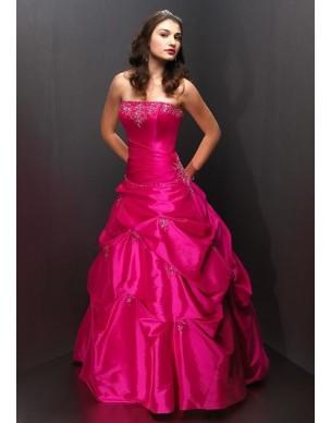 růžové maturitní společenské šaty Pinkie