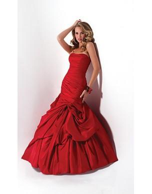 luxusní červené plesové šaty