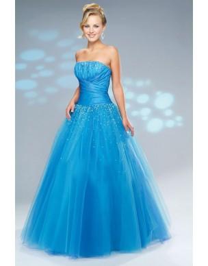 plesové modré společenské šaty Nina