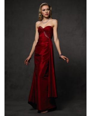 červené plesové šaty Agnes 9