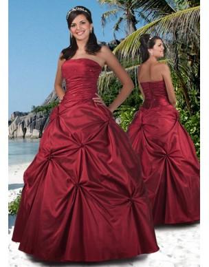 červené plesové šaty Agnes 20