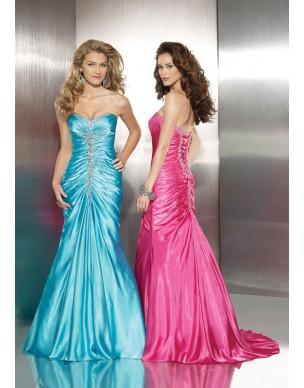 luxusní společenské šaty Mandy 28 zlaté, modré