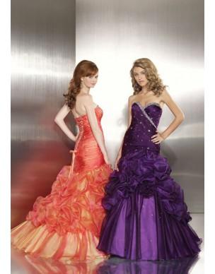 maturitní šaty Mandy 29 fialové a oranžové