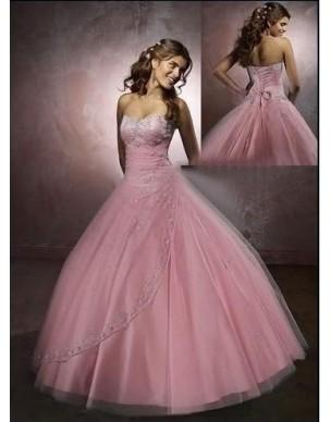 plesové společenské růžové šaty Sidoa