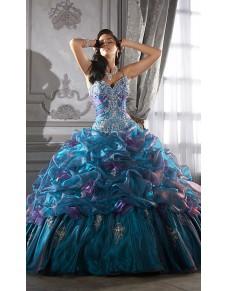 luxusní modré plesové společenské šaty Rebecca S-M