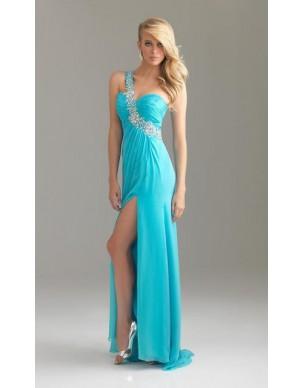 luxusní modré tyrkysové plesové společenské šaty Joly XS-M