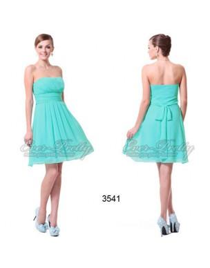 tyrkysové krátké společenské šaty Serena S