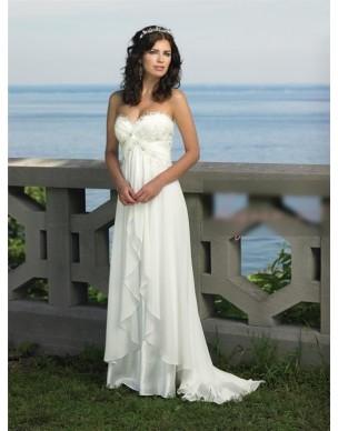 luxusní antické krémové svatební šaty Dionisa S-M