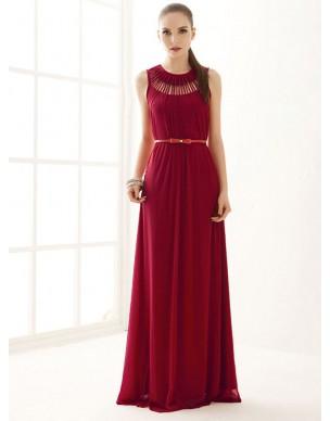 dlouhé červené antické společenské šaty S