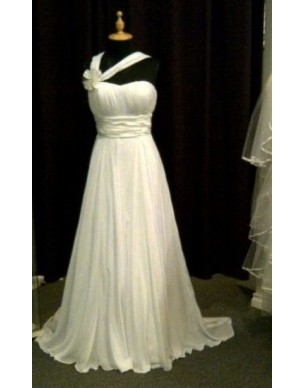 luxusní antické svatební bílé šaty Aella S-L