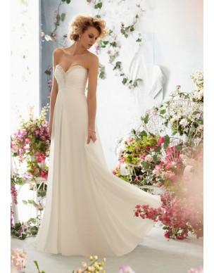 antické svatební šaty krémové Caroline S-M