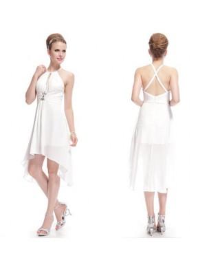 krátké bílé svatební a nebo společenské šaty Eliza S