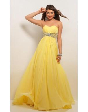 luxusní žluté plesové společenské antické šaty Kelly M-L