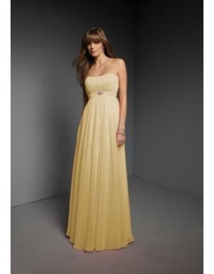 jednoduché plesové šaty antické žluté Viola L-XL