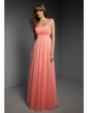 jednoduché plesové šaty antické meruňkové Viola XS-M a M-L