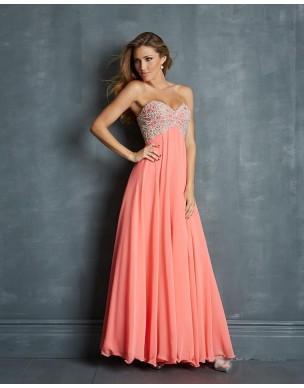 luxusní světle růžové plesové šaty na maturitní ples Erica S-L