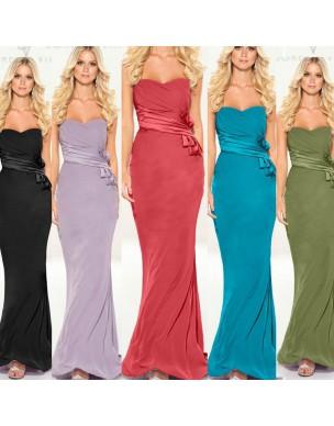 jednoduché tyrkysové dlouhé společenské šaty Veronica S-M