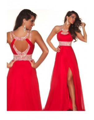luxusní červené plesové šaty Salamandra antické M