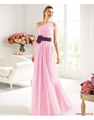 antické světle růžové plesové šaty M