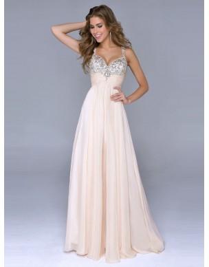 luxusní svatební nebo plesové champagne antické šaty Dorothy S-L