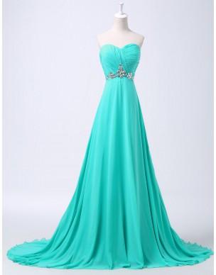 dlouhé tyrkysové plesové společenské šaty Linda XS-M