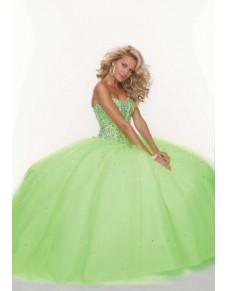 luxusní zelené plesové šaty na maturitní ples Divona S-M