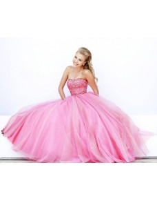 luxusní princeznovské plesové šaty na maturitní ples růžové Filia XS-S