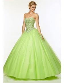 zelené plesové šaty na maturitní ples Sissi XS-S