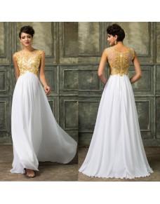 svatební nebo plesové šaty se zlatým zdobením Isabelle S