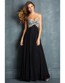 luxusní černé plesové šaty s krajkou Erica M-L