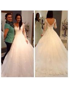 luxusní krajkované svatební šaty s bohatou sukní Rosé S