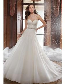 luxusní svatební šaty se sníženým pasem Veronica M-L