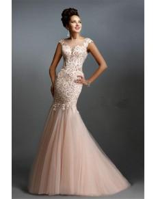 světle růžové plesové šaty na maturitní ples Isabella XS-S